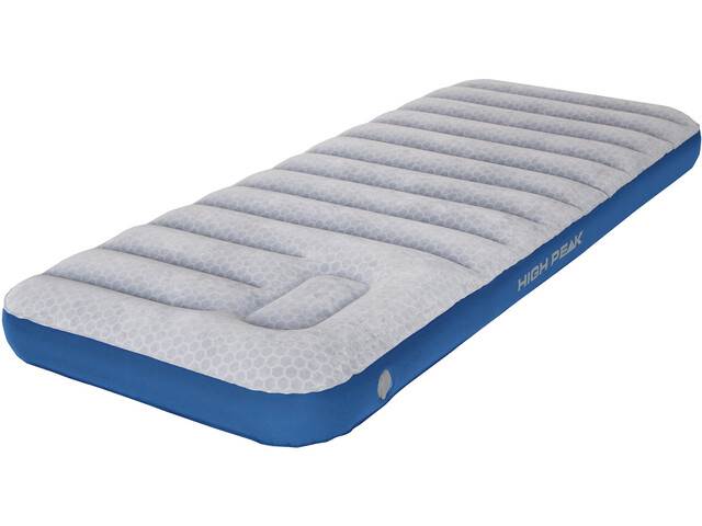 High Peak Air bed Cross Beam Single Extra Long  Mattress hellgrau/blau